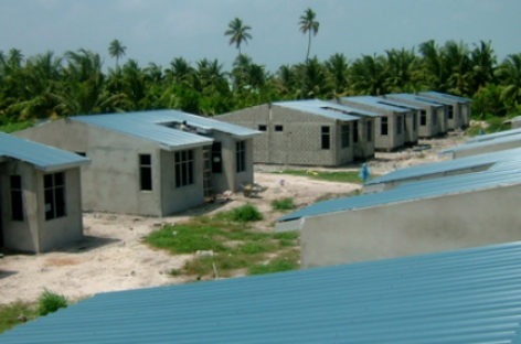 Government's claim of providing housing for tsunami victims disputed
