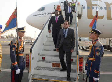 Vice president Adeeb in Egypt on first official visit