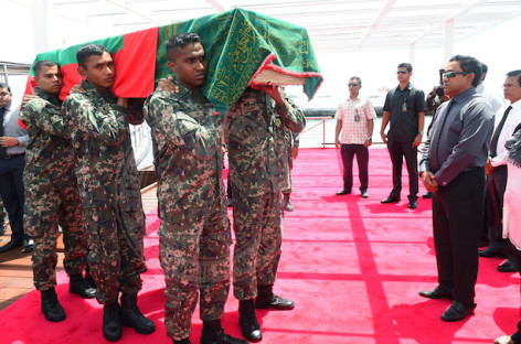 Abdulla Hameed's body brought back for state funeral