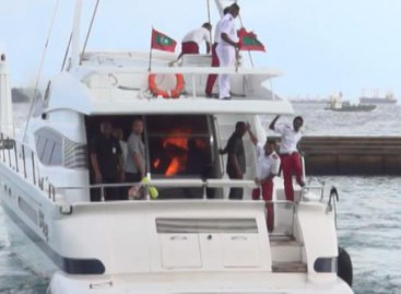 Blast on president's speedboat an 'assassination attempt,' video shows fire inside cabin