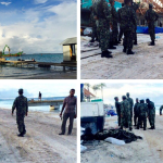 Soldiers raid a Maldives resort under development