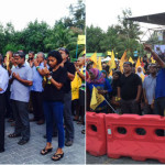 In face off with riot police, protesters pray for deliverance from tyranny