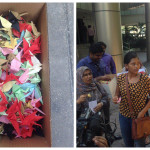 Missing journalist's family delivers 500 paper cranes to president