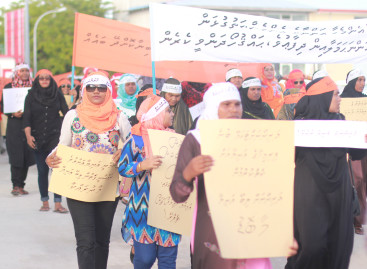 Hundreds protest over horrific rape case in Thinadhoo