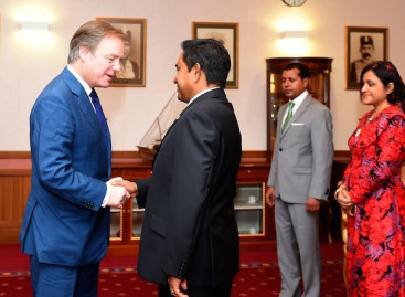 UK minister of state meets President Yameen