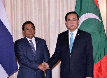 Yameen asks Thai PM to waive visas for Maldivians