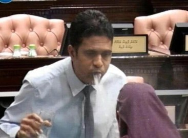 Majority leader faces storm of criticism for spitting at female MP