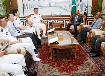 Chinese admiral in Malé for defence talks