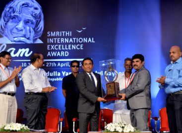 Yameen receives governance award from Indian NGO