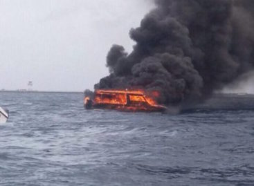 Three injured in speedboat fire