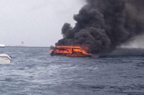 Speedboat catches fire near Biyaadhoo resort