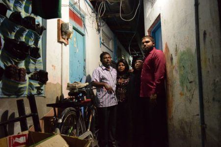 Humam's family at their home in Malé