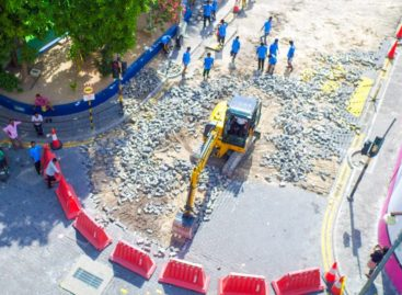 Malé's badly damaged roads getting a makeover