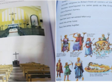 School recalls textbooks after controversy over pictures of churches