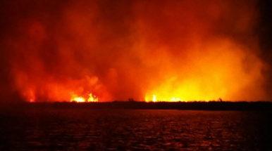 Arson suspected as fires destroy wetlands in Fuvahmulah