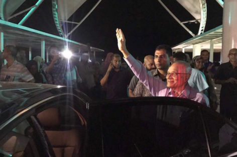 Opposition leaders welcome Gayoom back to Maldives
