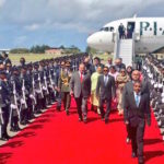 Pakistan Prime Minister Nawaz Sharif arrives in Maldives