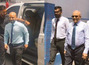 Gayoom attends hearing of Faris's identity fraud trial