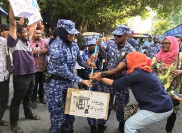 Police crack down on march for abducted journalist