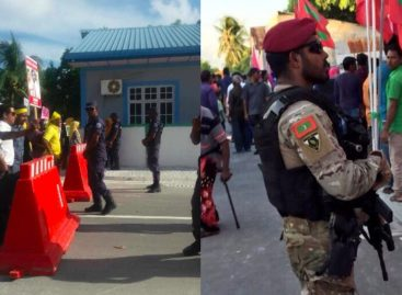 Security forces descend on Villigili for Yameen visit