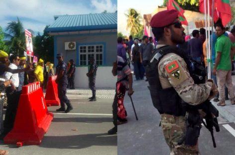Security forces descend on Villigili for Yameen visit