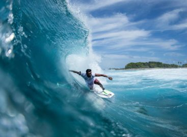 Surf's up in the Maldives