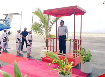 President inaugurates Dhaalu airport