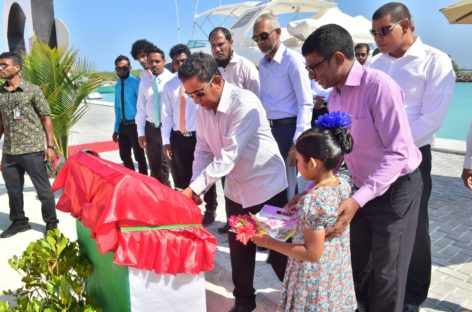 Yameen cuts ribbons for new harbours on northern atolls tour