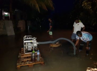 Heavy rain causes flooding on four islands