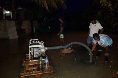 Heavy rain causes flooding on four islands