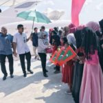 First lady embarks on atoll tour