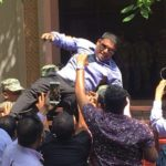 Carried away: Lawmakers removed from parliament compound