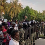 Soldiers block opposition protest in Laamu atoll