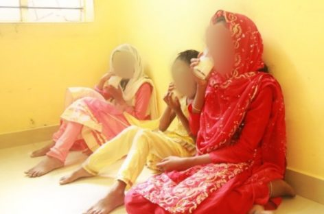 Girls brought home from Indian orphanage