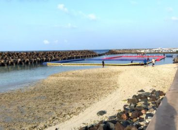 Malé swimming track closed for dredging