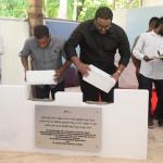 Vice president inaugurates Maafaru airport project