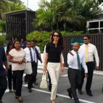 Amal Clooney arrives in the Maldives