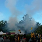 Tear gas fired to disperse defiant protesters – as it happened