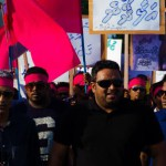Reporter detained for taking photo of Adeeb on his first visit to Malé