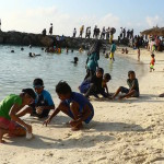 New artificial beach closed to swimmers after sewage pipe bursts