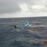 Crew of sinking cargo boat rescued at sea