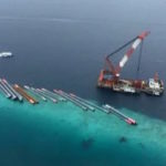 Bridge pipes 'stored' on Gulhifalhu reef