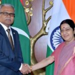 New foreign minister reiterates India first policy in visit to New Delhi
