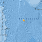 Light earthquake strikes 300km east of Maldives