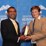 Nasheed receives Courage Award at Geneva human rights summit