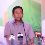 Yameen lashes out at opposition after election loss
