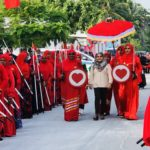First lady distributes cash to island's needy