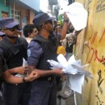 MDP cries foul as police tear up campaign posters