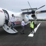 Test flight lands at Maafaru airport