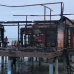 Water villas destroyed in fire